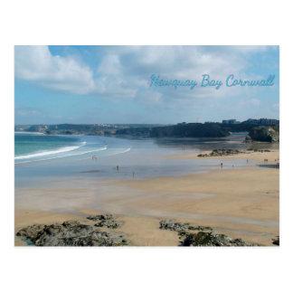 Cartão Postal A baía de Newquay encalha Cornualha Inglaterra