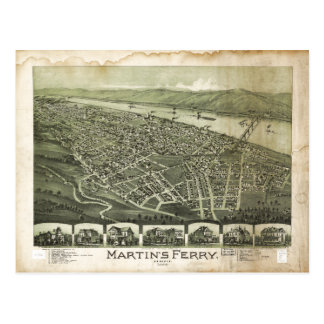 Cartão Postal A balsa Ohio de Martin pelo Fowler de Thaddeus