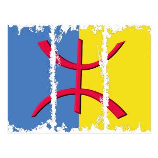 Cartão Postal A bandeira 3Tall sujo de Kabylia encaixota o