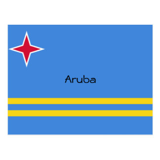 Cartão Postal A bandeira de Aruba projeta