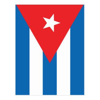 Cartão Postal A bandeira de Cuba