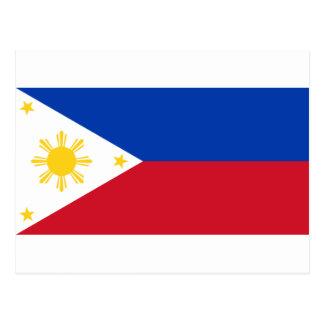 Cartão Postal A bandeira de Filipinas (Pilipinas)