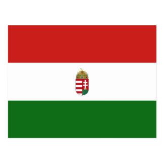 Cartão Postal A bandeira de Hungria