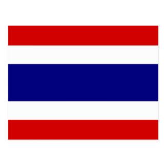 Cartão Postal A bandeira de Tailândia