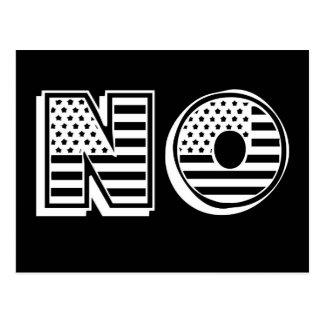 Cartão Postal A bandeira dos Estados Unidos embandeira o NENHUM