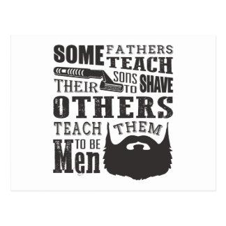 Cartão Postal A barba, algum pai ensina para barbear outro para
