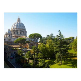 Cartão Postal A basílica de St Peter, Cidade do Vaticano, Roma,