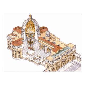 Cartão Postal A basílica de St Peter. Cidade do Vaticano Roma.