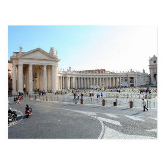 Cartão Postal A basílica e as colunas de St Peter na Cidade do