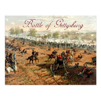 Cartão Postal A batalha de Gettysburg