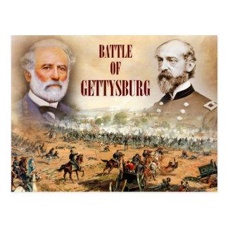 Cartão Postal A batalha de Gettysburg com Lee e Meade