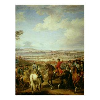 Cartão Postal A batalha de Lawfeld, o 2 de julho de 1747
