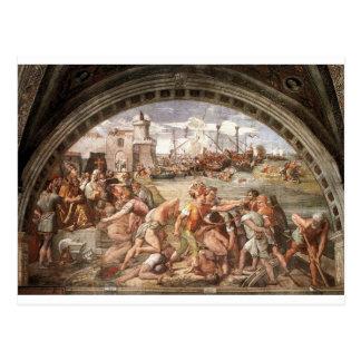 Cartão Postal A batalha de Ostia por Raphael