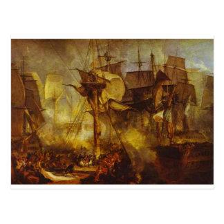Cartão Postal A batalha de Trafalgar, como visto do Mizen