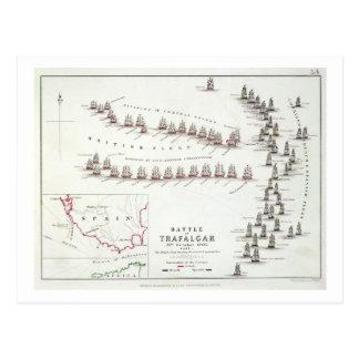 Cartão Postal A batalha de Trafalgar, o 21 de outubro de 1805, o