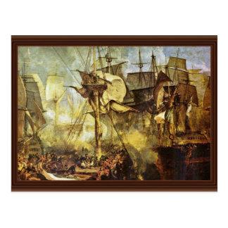 Cartão Postal A batalha de Trafalgar por Steuerbordbesanwanten V