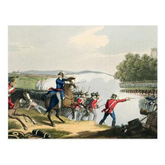 Cartão Postal A batalha de Waterloo decidiu pelo duque do poço