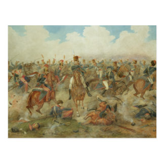 Cartão Postal A batalha de Waterloo, o 18 de junho de 1815 (w/c