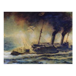 Cartão Postal A batalha do golfo de Riga, em agosto de 1915,