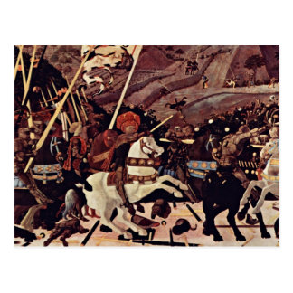 Cartão Postal A batalha do romano de San por Paolo Uccello