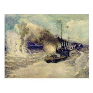 Cartão Postal A batalha entre a frota do Mar Negro e
