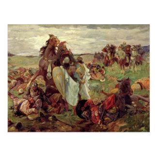 Cartão Postal A batalha entre Russo e Tatars, 1916
