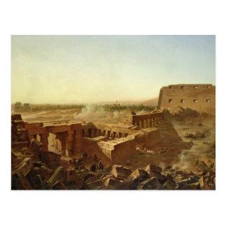 Cartão Postal A batalha no templo de Karnak
