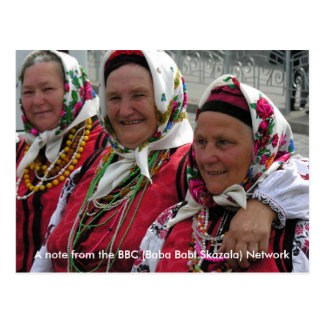 Cartão Postal A BBC - Babá Babi Skaza - rede