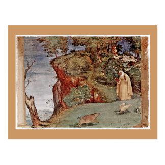 Cartão Postal A bênção do santo Brigid de Kildare