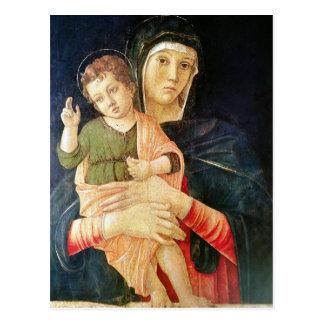 Cartão Postal A bênção do Virgin e da criança, 1460-70