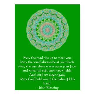 Cartão Postal A bênção irlandesa pode a estrada
