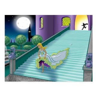 Cartão Postal A bola de Cinderella