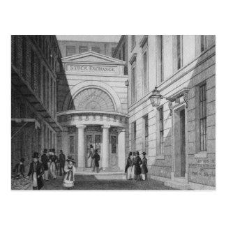 Cartão Postal A bolsa de valores, Londres, 'do metropolita