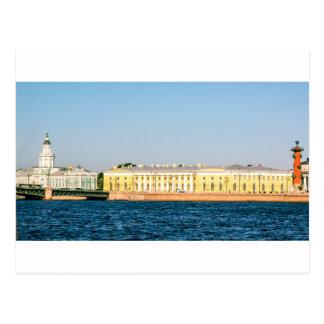 Cartão Postal A bolsa de valores velha de St Petersburg