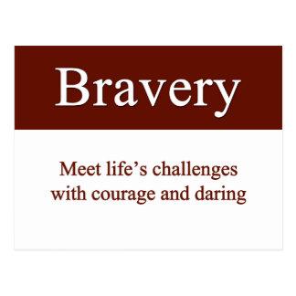Cartão Postal A bravura deixa-nos encontrar os desafios da vida