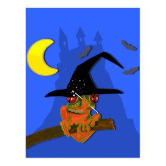 Cartão Postal A bruxa do comedor de rãs molda um período