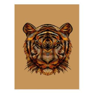 Cartão Postal A cabeça 1a do tigre