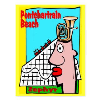 Cartão Postal A cabeça da tuba recorda a praia de Pontchartrain
