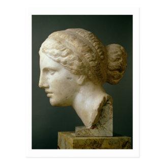 Cartão Postal A cabeça de Kauffmann, romana (mármore)