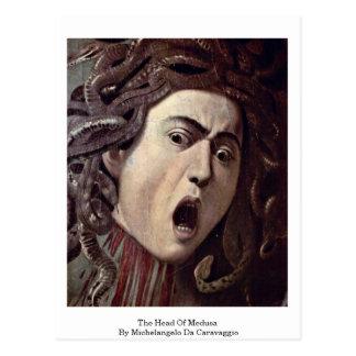Cartão Postal A cabeça do Medusa por Michelangelo a Dinamarca