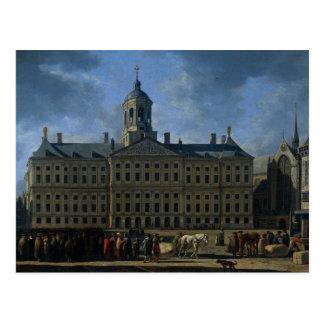 Cartão Postal A câmara municipal na represa, Amsterdão