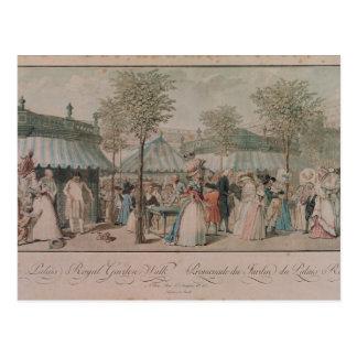 Cartão Postal A caminhada do jardim do Palais Royal, 1787