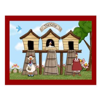 Cartão Postal A capoeira de galinha