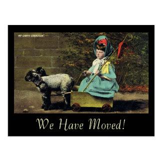 Cartão Postal A Carruagem/nós da minha senhora moveram-se!