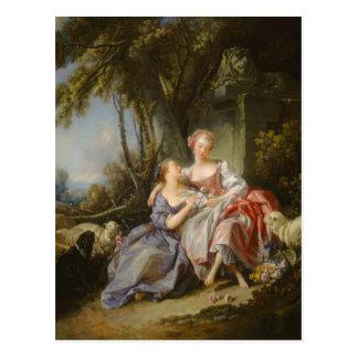 Cartão Postal A carta de amor por François Boucher
