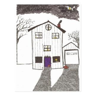 Cartão Postal A casa assustador