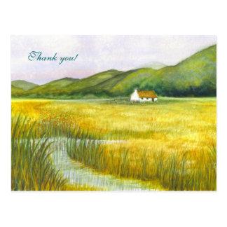 """Cartão Postal A """"casa de campo nos Fens"""" agradece-lhe!"""