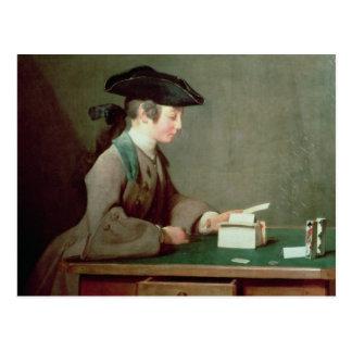 Cartão Postal A casa de cartões, c.1736-37