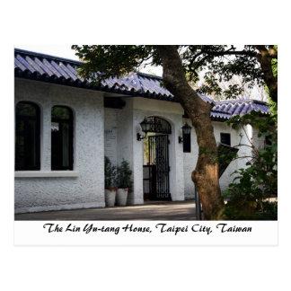Cartão Postal A casa de Lin Yu-Tang, cidade de Taipei, Formosa