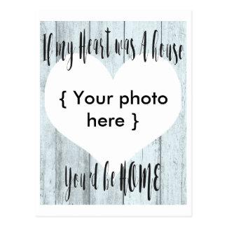 Cartão Postal A casa do coração projeta